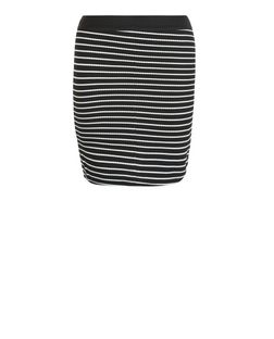 Teens Black Stripe Tube Skirt  | New Look