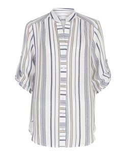 Cameo Rose Blue Stripe Shirt | New Look