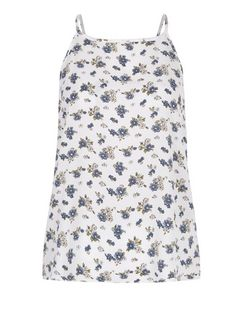 Cameo Rose Blue Ditsy Floral Cami  | New Look