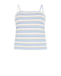 Plus Size Multicoloured Stripe Ribbed Cami | New Look