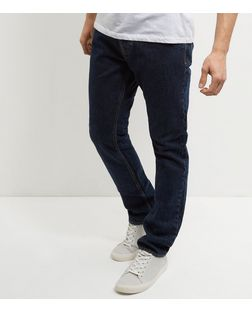 Navy Stonewash Slim Fit Jeans | New Look