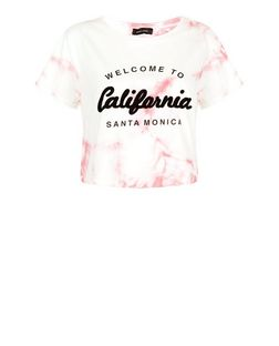 Pink California Tie Dye Crop Top  | New Look
