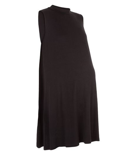 Maternity Black Sleeveless Swing Dress | New Look