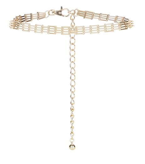 Gold Bracelet Chain Belt  | New Look