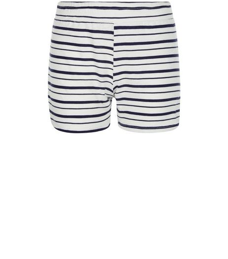 Girls White Stripe Shorts | New Look