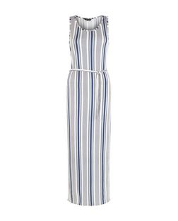 Blue Stripe Belted Maxi Dress | New Look