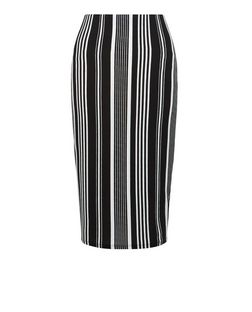 Black Stripe Pencil Skirt | New Look