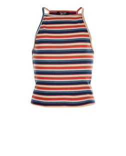 Teens Multicoloured Stripe High Neck Cami | New Look