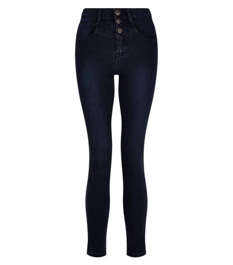 Teens Navy High Waisted Skinny Jeans | New Look