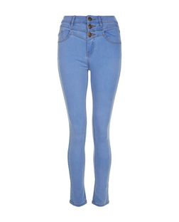 Teens Blue High Waisted Skinny Jeans | New Look