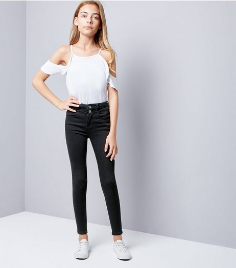 Teens Black High Waisted Skinny Jeans | New Look
