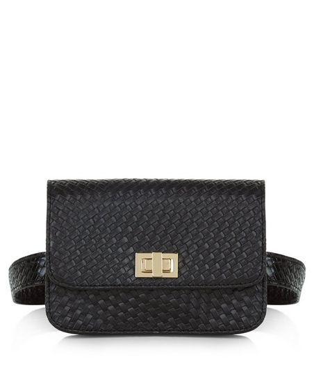 Black Woven Purse Belt  | New Look