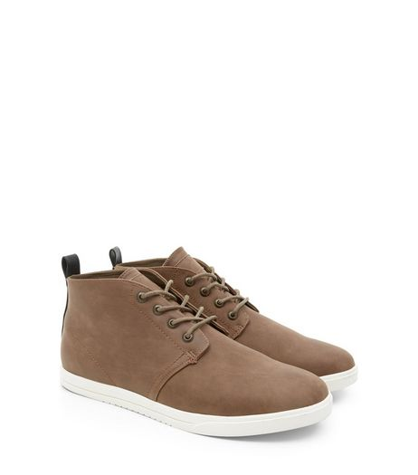 Light Brown Leather-Look Chukka Boots | New Look