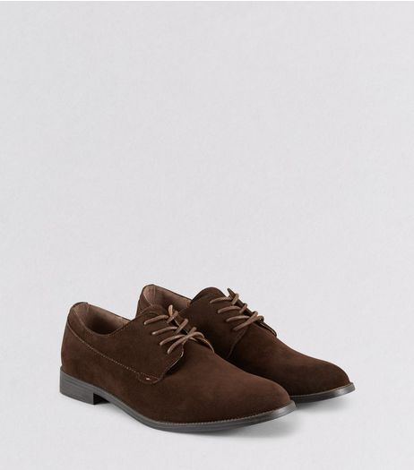 Brown Suedette Derby Shoes | New Look