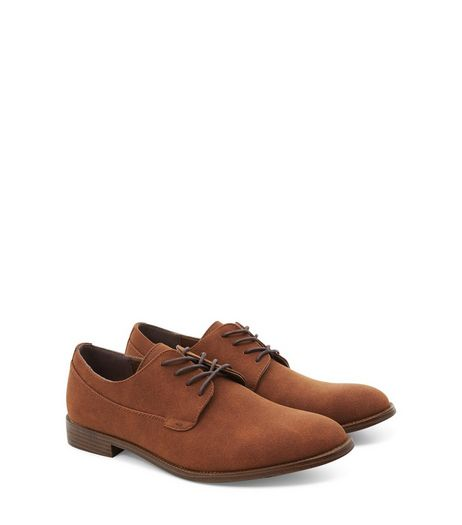 Orange Suedette Lace Up Brogues | New Look