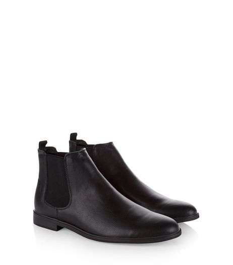 mens chelsea boots leather chelsea boots new look