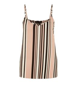 Pink Stripe Cami  | New Look