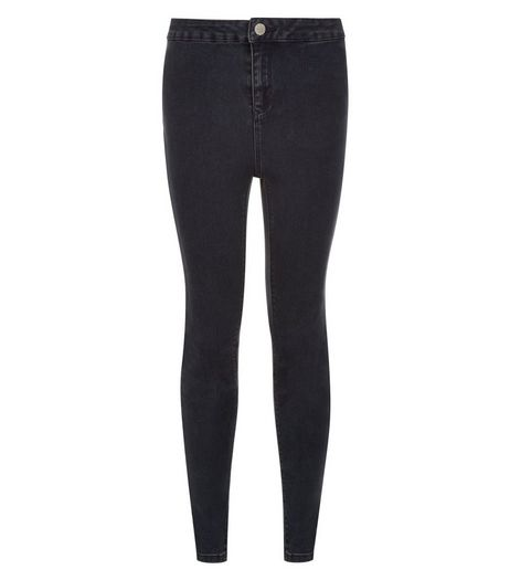 Teens Navy High Waist Super Skinny Jeans  | New Look