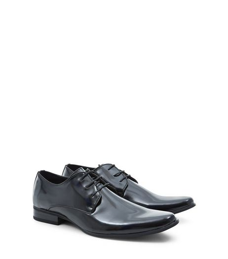 Black Patent Gibson Shoes  | New Look