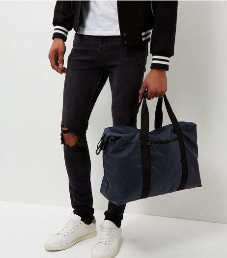 Navy Holdall Bag | New Look