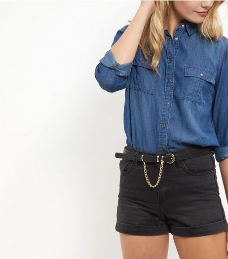 Black Skinny Chain Belt | New Look