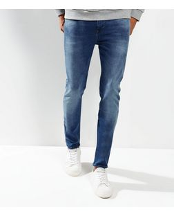 Blue Faded Skinny Jeans  | New Look