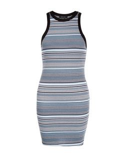 Blue Stripe Bodycon Mini Dress  | New Look