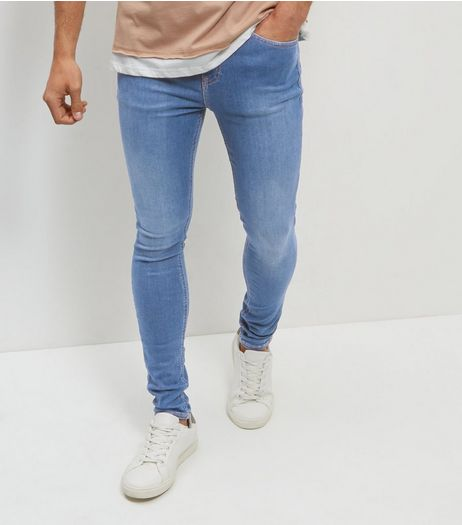 Bright Blue Super Skinny Stretch Jeans  | New Look