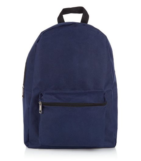 Navy Pocket Front Backpack | New Look