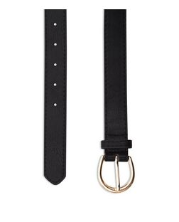 Black Heart Chain Leather-Look Belt | New Look