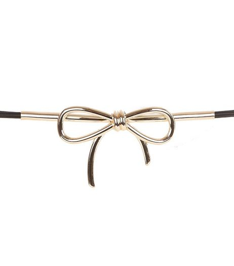 Black Bow Waist Belt  | New Look