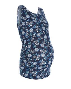 Maternity Blue Pineapple Print Vest | New Look