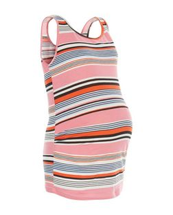 Maternity Pink Stripe Sleeveless Vest | New Look