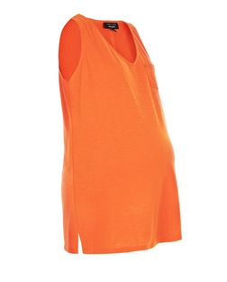 Maternity Orange Sleeveless Vest | New Look