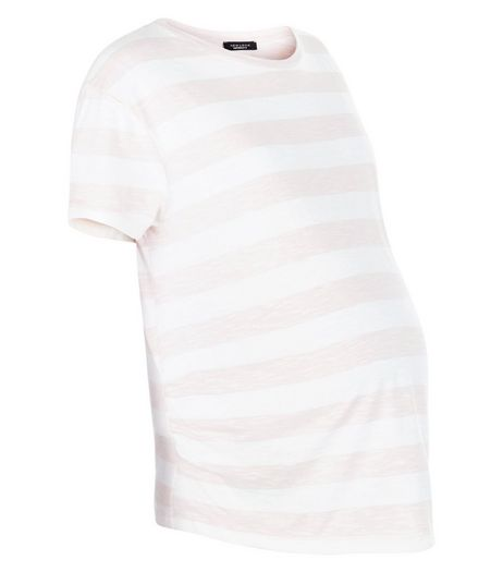 Maternity Pink Stripe T-Shirt | New Look