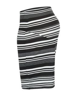 Maternity White Stripe Over Bump Skirt | New Look