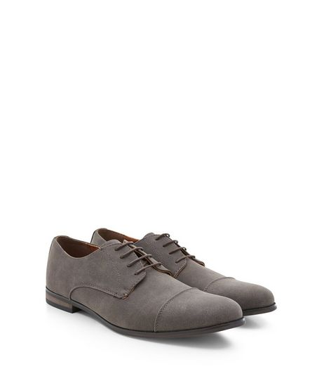 Mink Stitch Trim Derby Shoes  | New Look