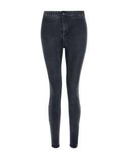 Dark Blue High Waisted Super Skinny Jeans | New Look