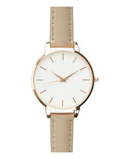 Mink Leather-Look Strap Watch | New Look