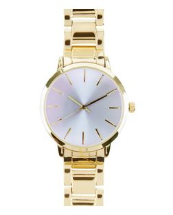 Gold Iridescent Face Sports Watch | New Look