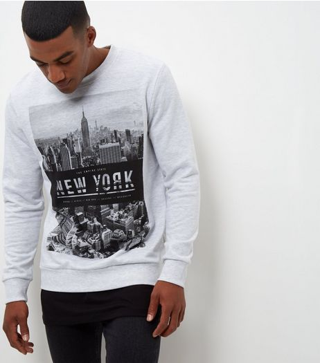 Grey New York City Sweater  | New Look