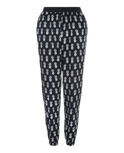 Teens Black Pineapple Print Joggers | New Look