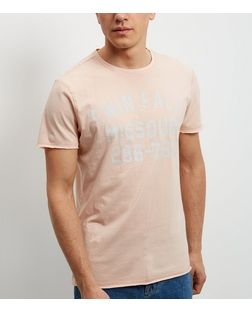 Mid Pink Twin Falls Print Short Sleeve T-Shirt | New Look
