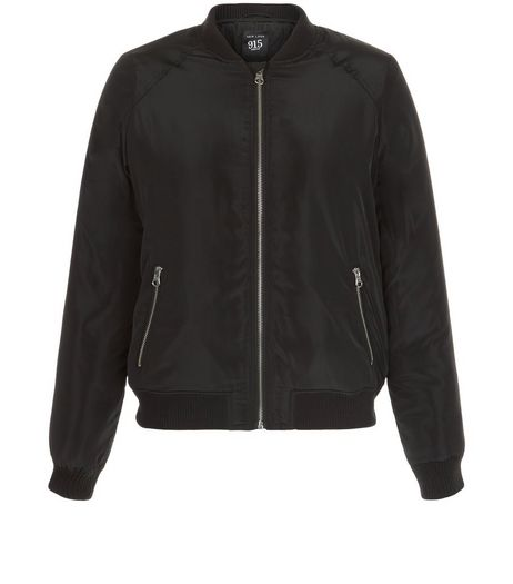 Teens Black Zip Pocket Bomber Jacket | New Look