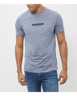 Blue New York Print T-Shirt | New Look