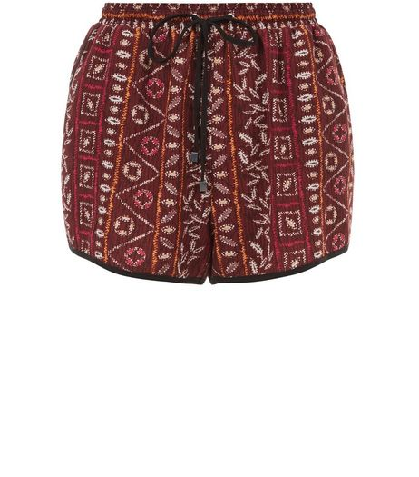 Brown Aztec Print Runner Shorts | New Look