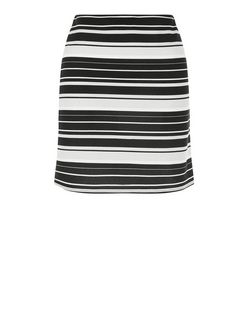 Blue Stripe Tube Skirt  | New Look