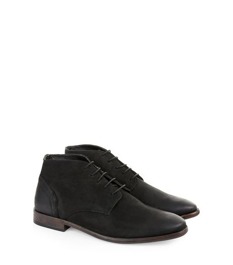 Black Suede Lace Up Chukka Boots | New Look