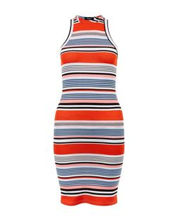 Petite Red Stripe Sleeveless Dress | New Look