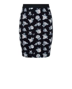 Teens Black Rose Print Skirt | New Look